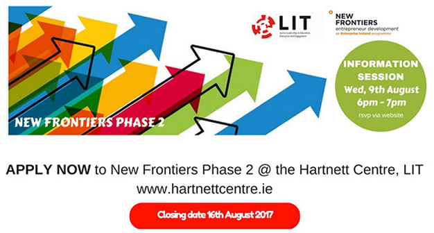 New Frontiers Information Session - Wednesday 9th August 2017 @ 6-7pm