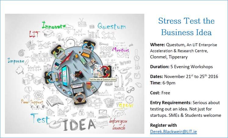 Stress Test the Business Idea, Questum